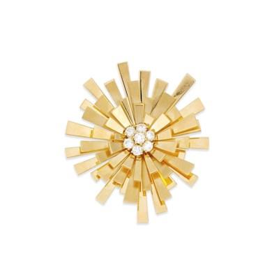 A diamond brooch, by Cartier