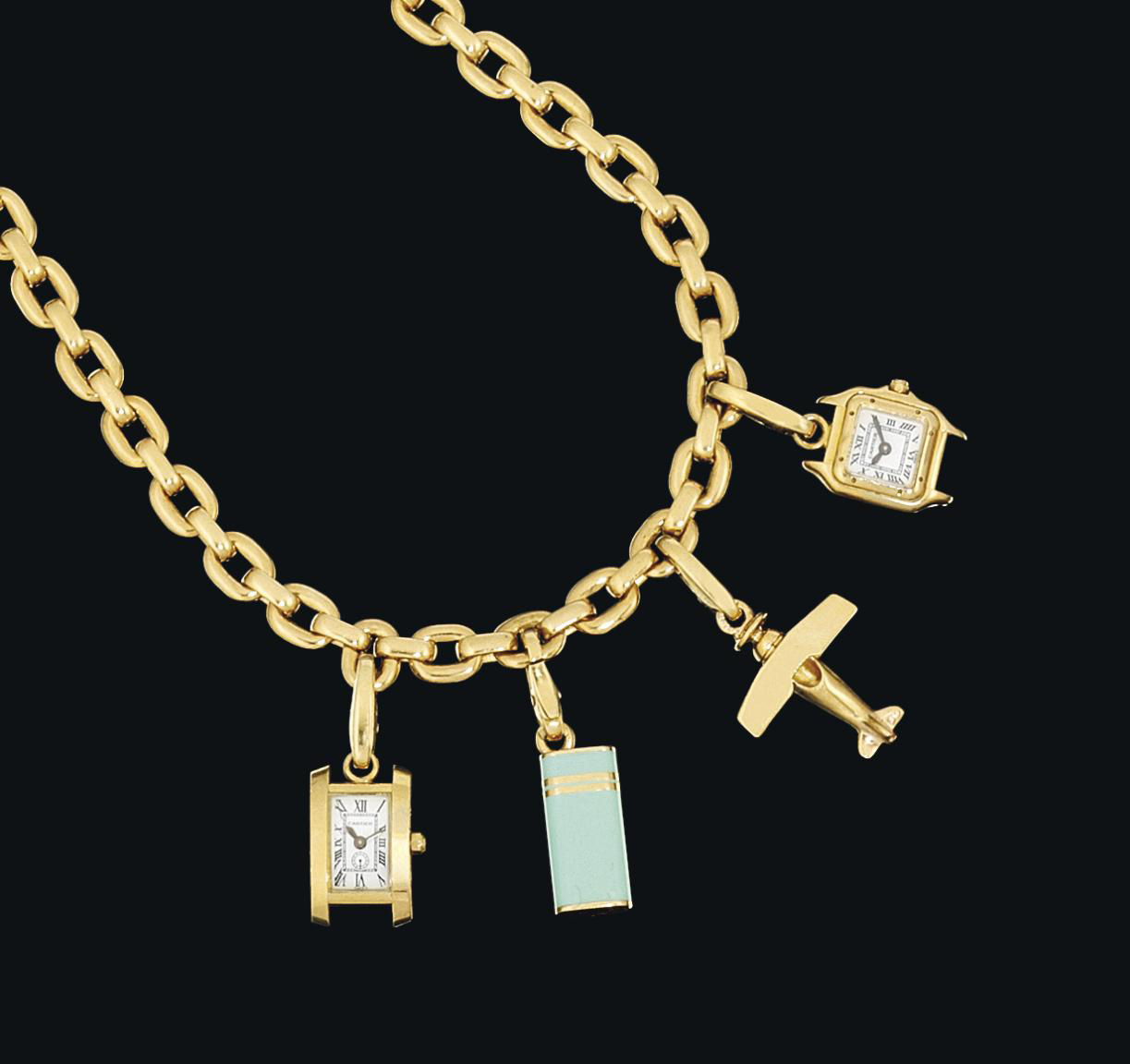 A charm necklace, by Cartier