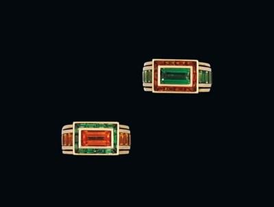 Two gem-set rings, by Hemmerle