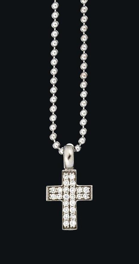 A diamond cross pendant, by Cada