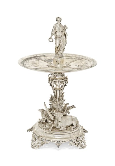 A FRENCH PARCEL-GILT SILVER AG