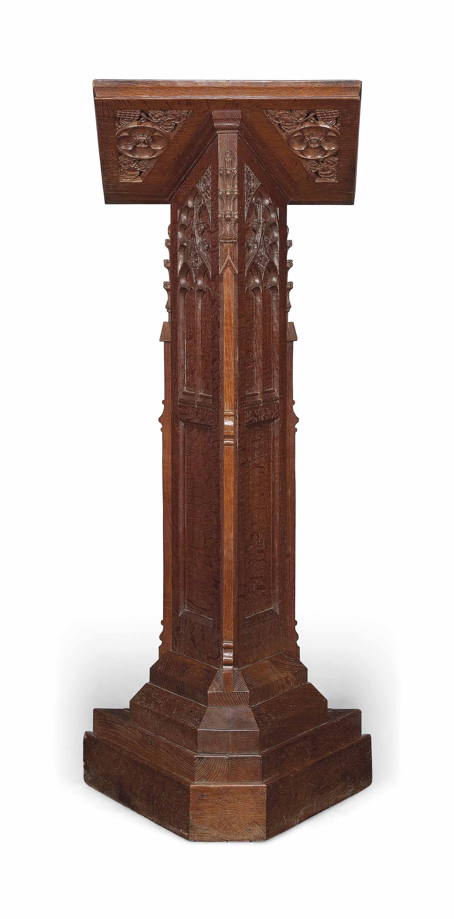 A ROBERT THOMPSON (1876-1955) OF KILBURN (MOUSEMAN) OAK LECTERN