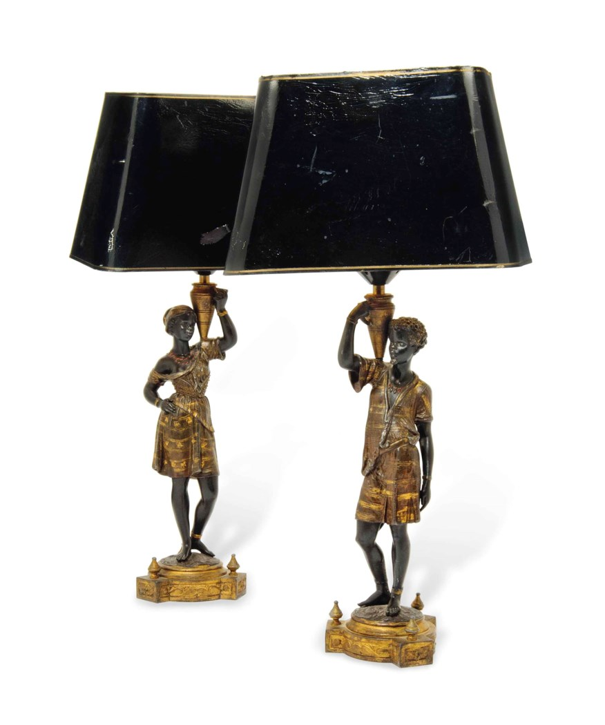 Lot 352 - An Art Deco patinated spelter figure of a