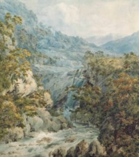 Upper fall of the Clydagh, Brecknockshire