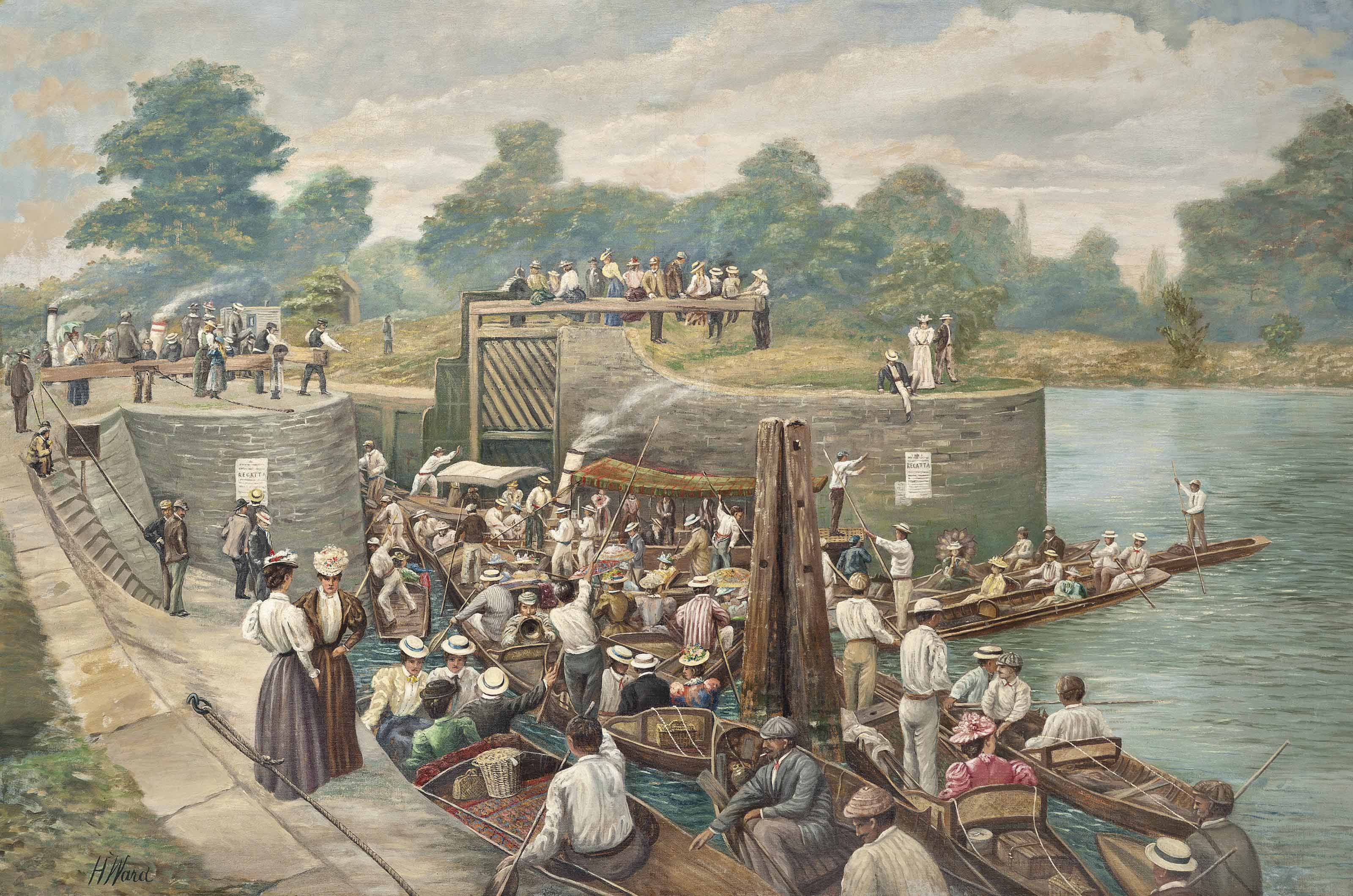At Boulter's Lock, the Thames Regatta
