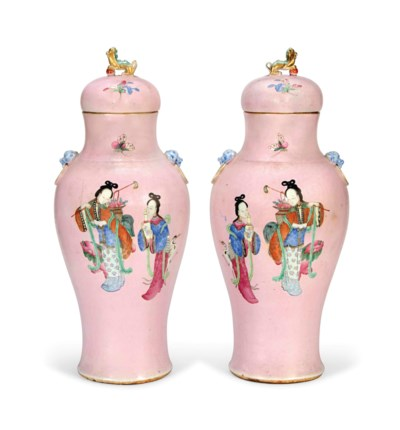A LARGE PAIR OF CHINESE PINK-G