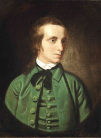 Portrait of a young man, half-length, in a green jacket and black tie