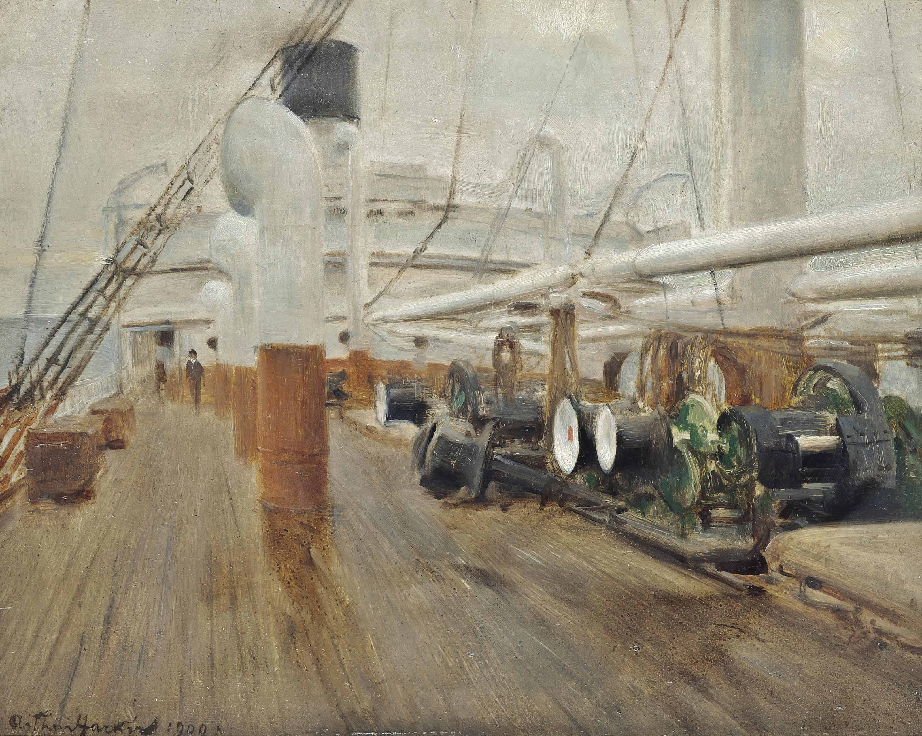 The deck of the S.S. Veronese