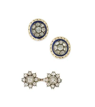 A pair of George III diamond e