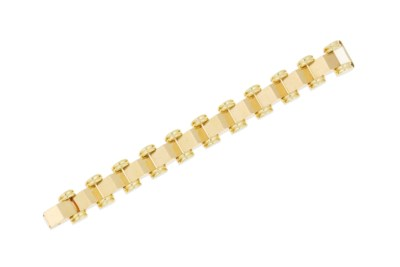 A gold fancy-link bracelet