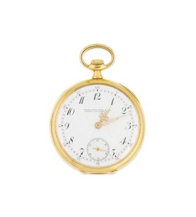 A gold openface pocket watch,