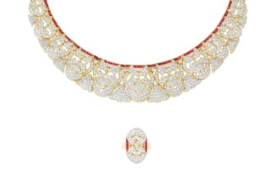 A suite of diamond and ruby je
