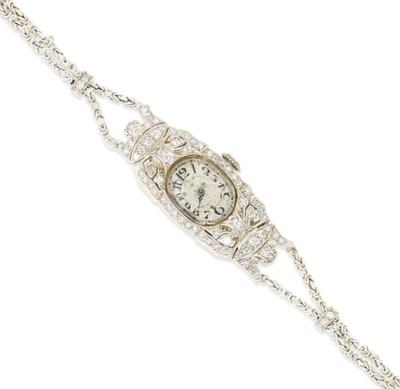 A lady's Art deco diamond-set