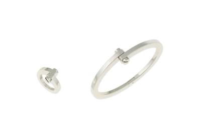 A 'Menotte' bangle and ring, b