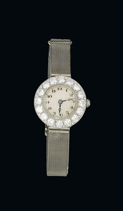 A lady's diamond-set wristwatc