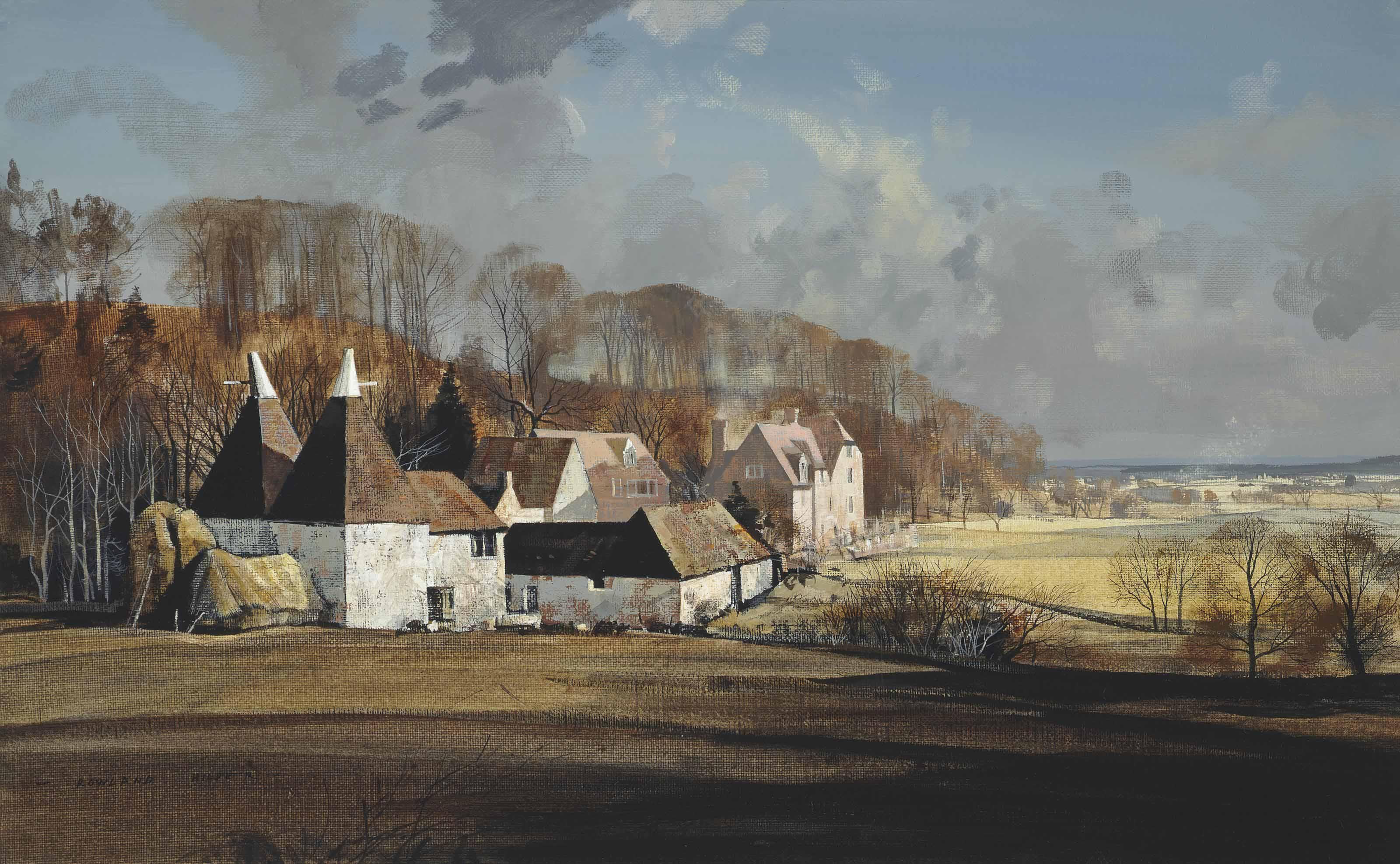 Landscape with Oast Houses, Crockham