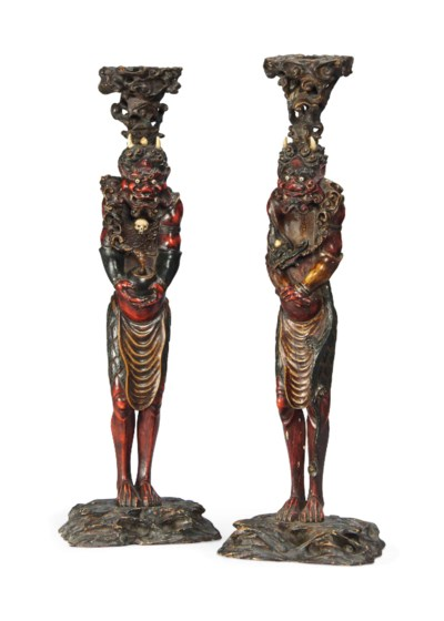 A PAIR OF JAPANESE IVORY AND P