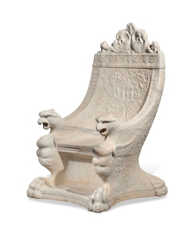 A LARGE ITALIAN CARVED MARBLE
