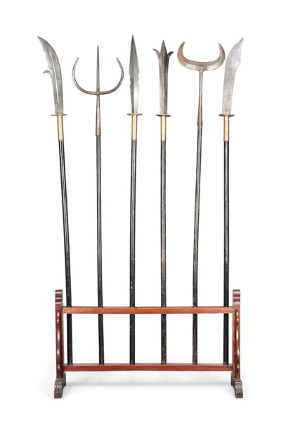 A GROUP OF SIX CHINESE STEEL W