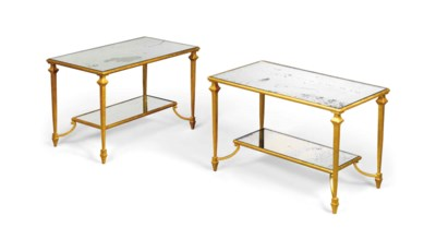 A PAIR OF GILT-METAL OCCASIONA