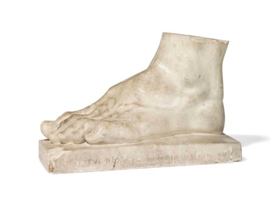 A FRENCH PLASTER CAST OF THE F