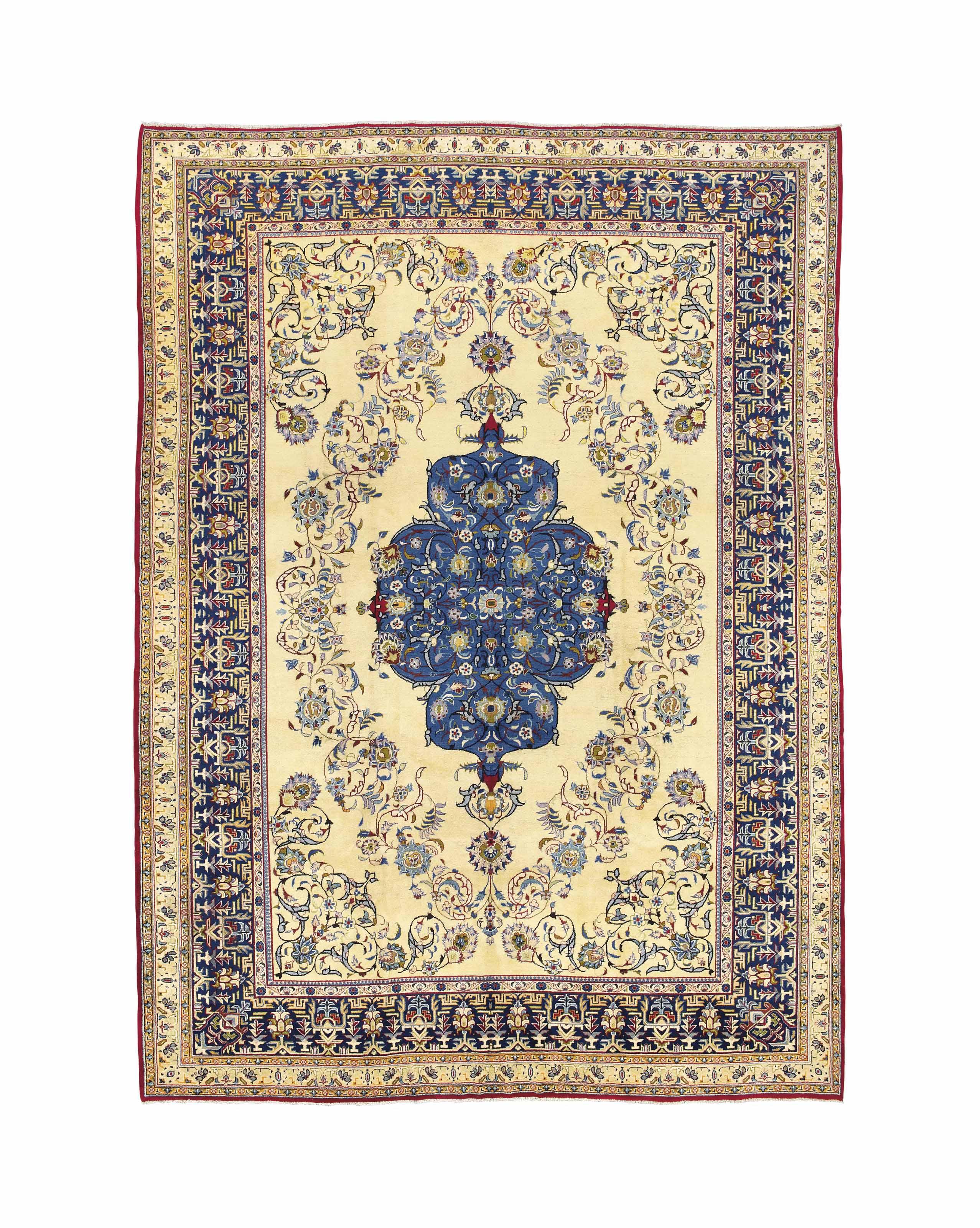 An unusual Isfahan carpet