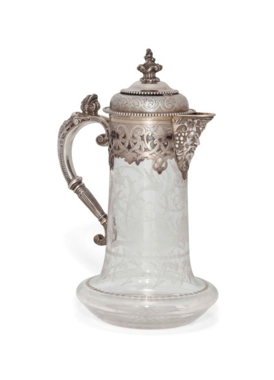 A VICTORIAN SILVER-MOUNTED ETC