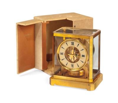 A GILT-BRASS ATMOS CLOCK