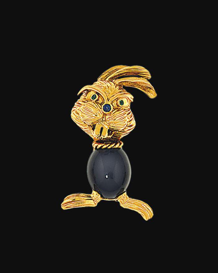 A gem-set novelty brooch, by Kutchinsky