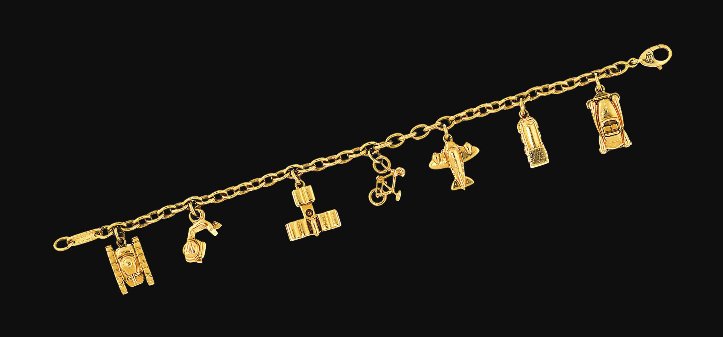 A charm bracelet, by Cartier
