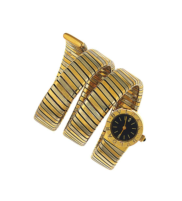 A bi-metallic 'Tubogas' wristwatch, by Bulgari