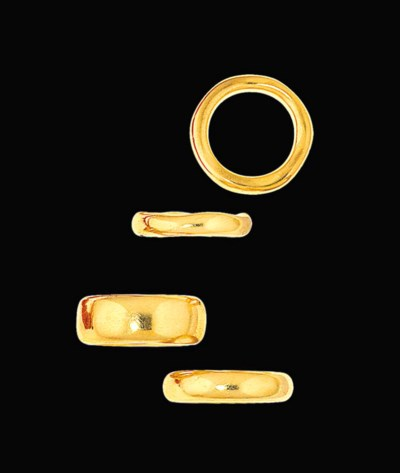 Four band rings, by Pomellato