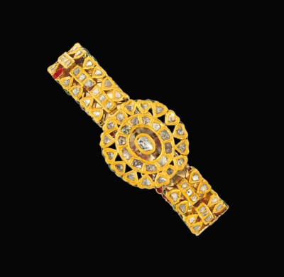 An Indian diamond bracelet