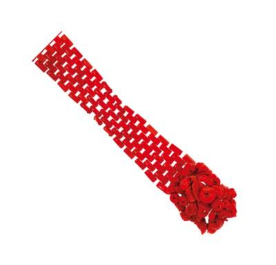 A coral bracelet