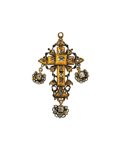 A 17th century  diamond reliqu