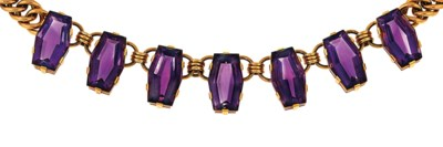 An amethyst necklace and singl