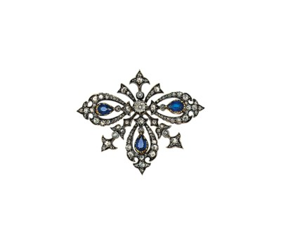 A late 19th  century sapphire