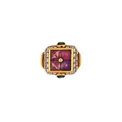 A gem-set dress ring, by Bulga