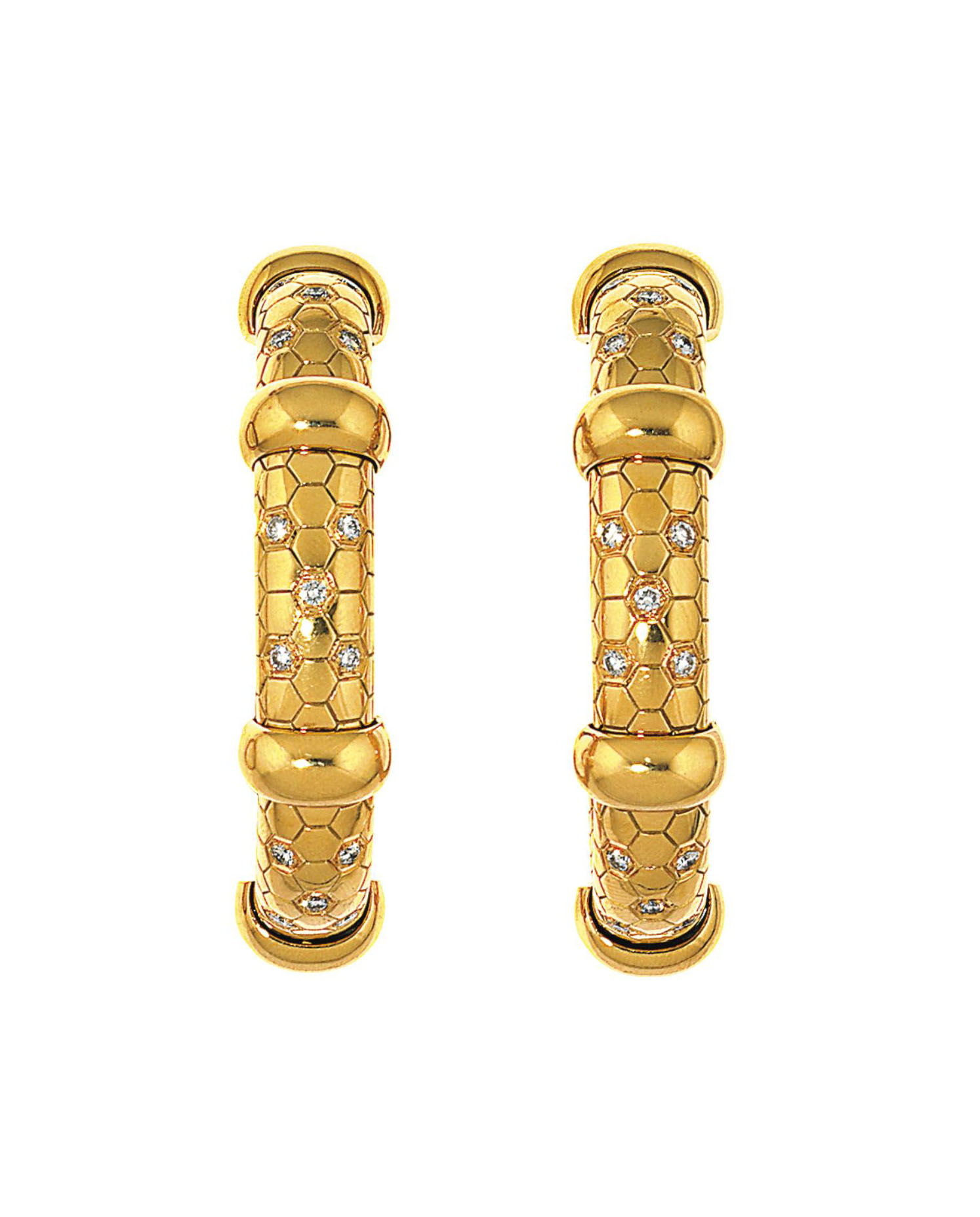 Two diamond-set bangles, by O J Perrin
