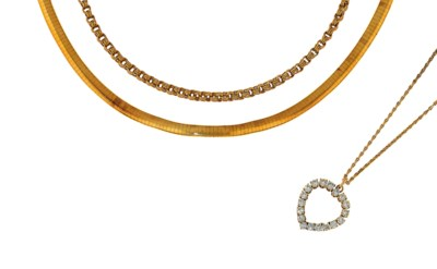 A diamond necklace, four neckl