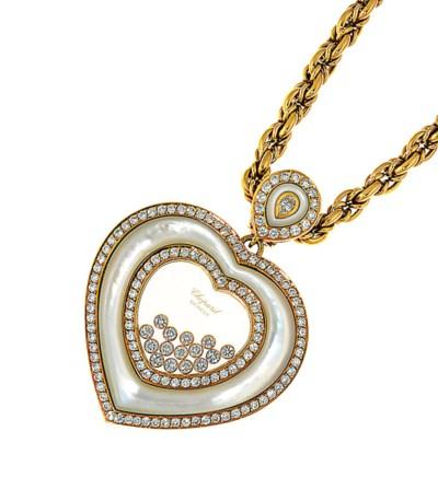 A 'Happy Diamond' pendant neck