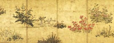 A Japanese Four-Fold Screen