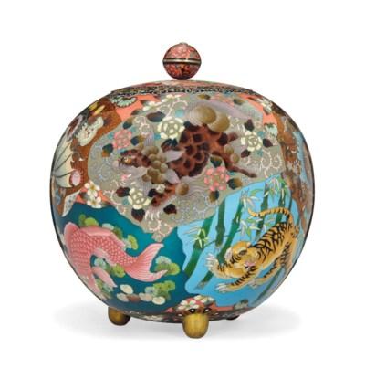 A Large Japanese Cloisonné Vas