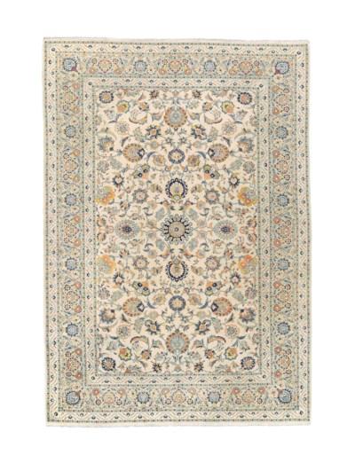 A fine Sanaii Kashan carpet