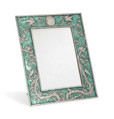 A CHINESE SILVER AND ENAMEL PH
