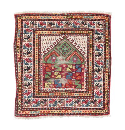 An antique Konya prayer rug