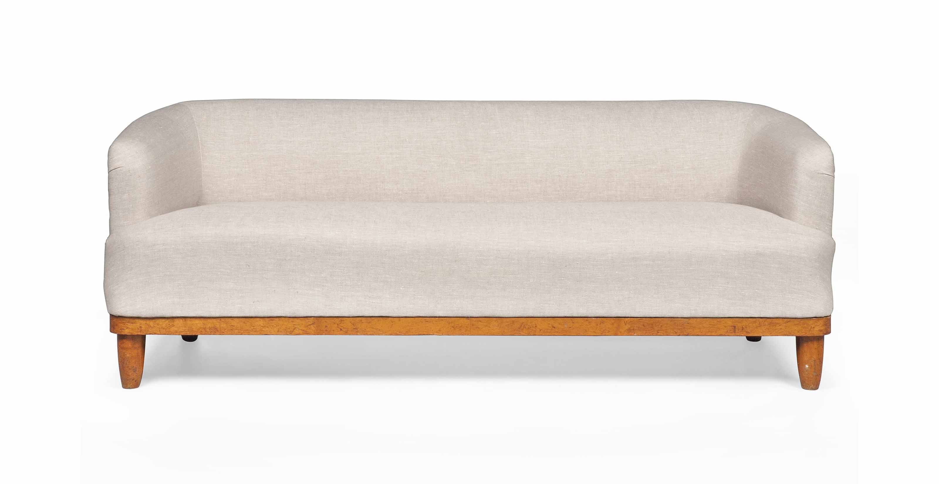 A SWEDISH BIRCH SOFA