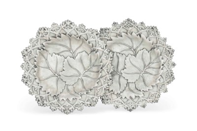 A PAIR OF GEORGE IV SILVER DES