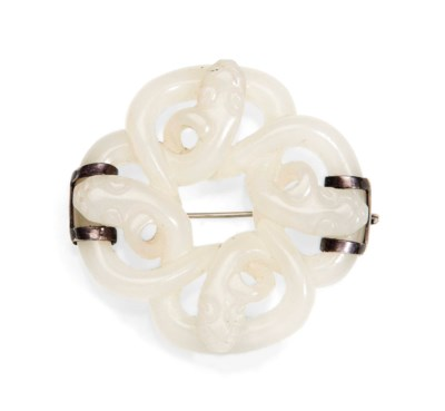 A WHITE JADE ENTWINED CHILONG