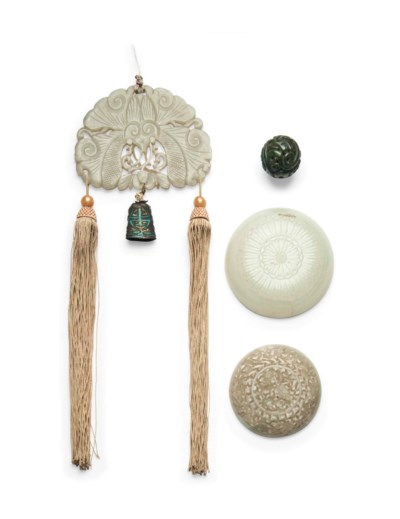 FOUR JADE OBJECTS